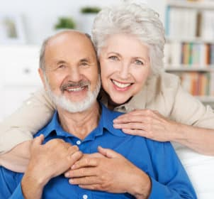 old couple smiling